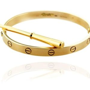 Stainless Steel Cuff Love Bangle